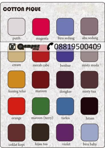 Katalog kain katun, katalog warna kain, katalog warna kain katun